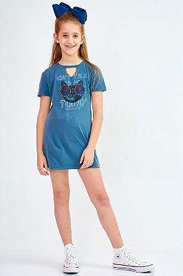 Vestido Bana Bana Star T-Shirt Azul