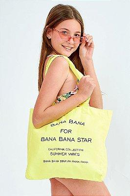 Bolsa Sarja Bana Bana Star Amarela Neon
