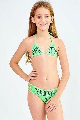 Biquíni Bana Bana Star Cortininha Verde Neon
