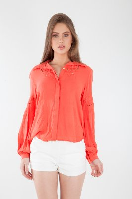 CAMISA HAPPY HOUR - CORAL