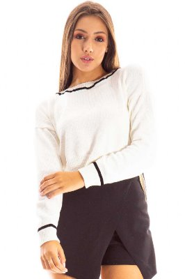 BLUSA CROPPED TRICOT CASUAL