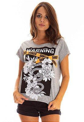T-Shirt Bana Bana Estampada Mescla