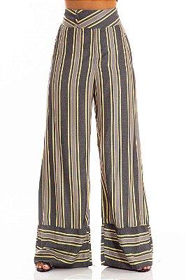 Calça Bana Bana Pantalona Listrada