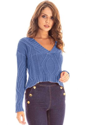 CROPPED TRICOT LAVADO CASUAL