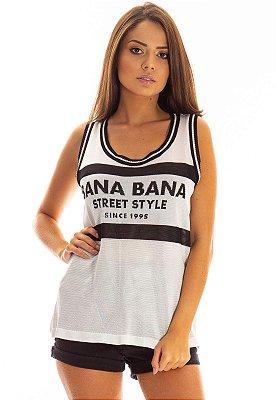 Regata Bana Bana Jacquard em Tricô Off White