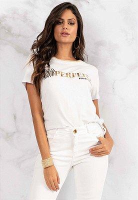 T-Shirt Bana Bana Perfeita Branco