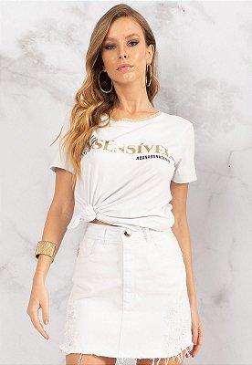 T-Shirt Bana Bana Sensível Branco