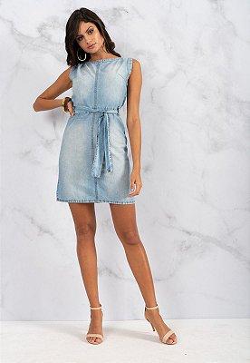 Vestido Jeans Bana Bana Chemisie com Cinto