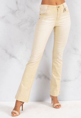 Calça Jeans Bana Bana Angelina Boot Cut Areia