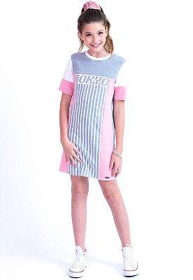 T-SHIRT DRESS TOQUIO - ROSA ANTIGO