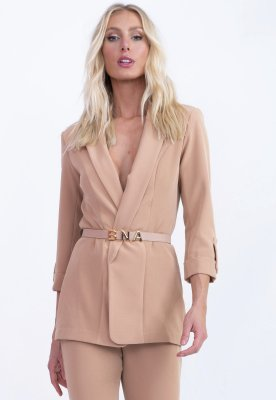 BLAZER ALONGADO HAPPY HOUR - ROSA PALIDO