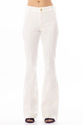 CALÇA HIGH FLARE - OFF WHITE
