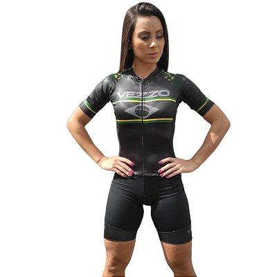 Macaquinho Ciclismo Classic Vezzo Brasil Black