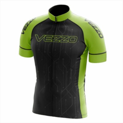 Camisa Masculina Ciclismo e MTB Vezzo Techno Black