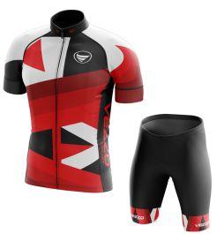 Conjunto Masculino Ciclismo e MTB Vezzo Rebel Red