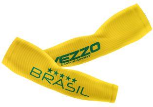 Manguito Feminino Ciclismo Vezzo Brasil Amarelo