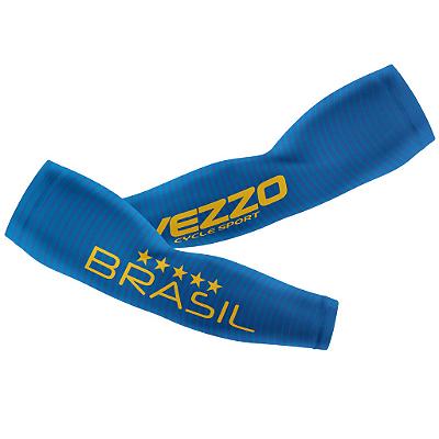 Manguito Masculino Ciclismo Vezzo Brasil 2018 Azul