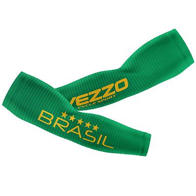 Manguito Masculino Ciclismo Vezzo Brasil 2018 Verde