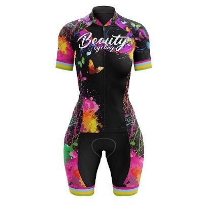 Macaquinho Feminino Ciclismo Beauty Butterfly Black