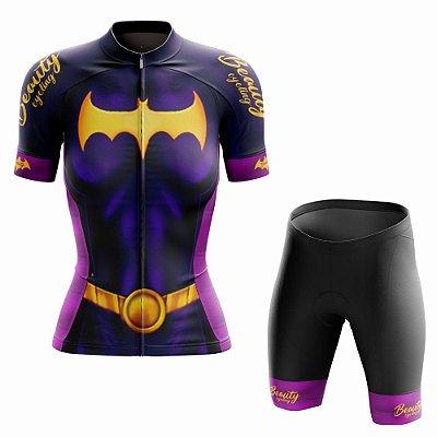 Conjunto Ciclismo Feminino Beauty Batgirl