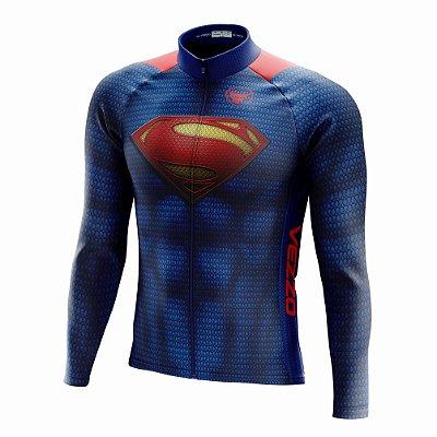 Camisa Ciclismo Mtb Manga Longa Vezzo Superman