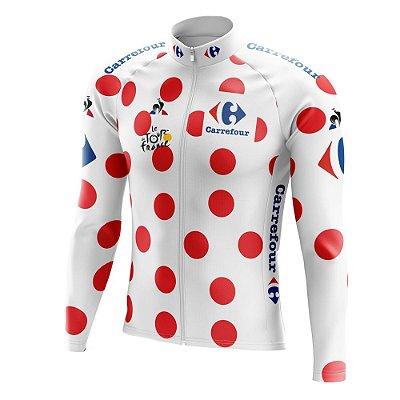 Camisa Manga Longa Ciclismo Tour de France Bolinhas - Montanha