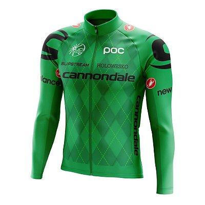 Camisa Manga Longa Ciclismo Mtb - Cannondale Verde World Tour