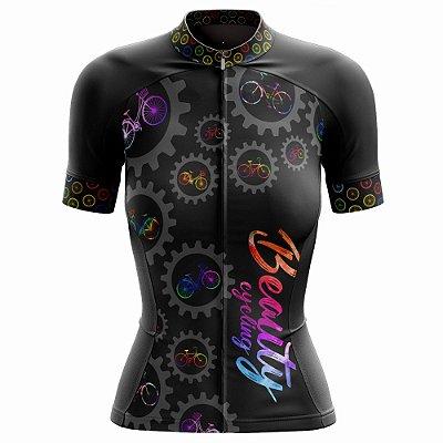 Camisa Feminina Ciclismo Beauty Biker