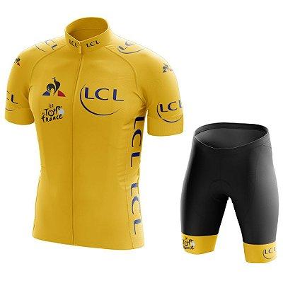 Conjunto Masculino Tour de France Amarelo - Líder
