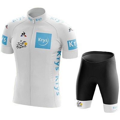 Conjunto Masculino Tour de France Branca - Young