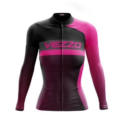 Camisa Feminina Ciclismo Manga Longa Vezzo Pro Bike