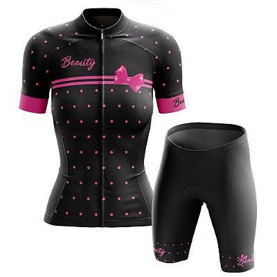 Conjunto Ciclismo Feminino Beauty Vintage Black
