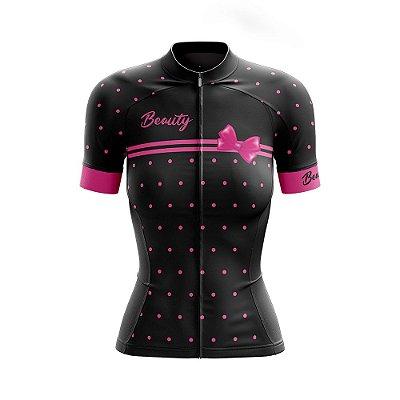 Camisa Feminina Ciclismo Beauty vintage Black