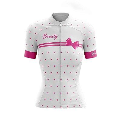 Camisa Feminina Ciclismo Beauty Vintage Branco