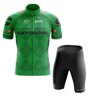 Conjunto Masculino World Tour Cannondale Verde