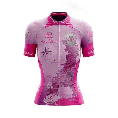 Camisa Feminina Ciclismo e MTB Vezzo Estrada Real Rosa