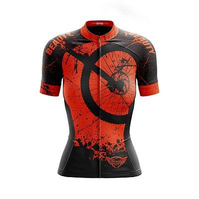 Camisa Feminina Ciclismo  Beauty Hardway O - Fluor Effect