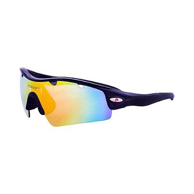 Óculos De Ciclismo TSW ALUX Proteção UV 400 - Preto