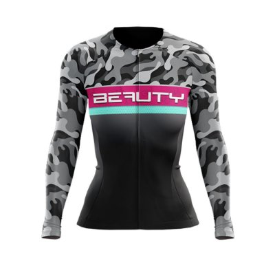Camisa Feminina Manga Longa Beauty Military