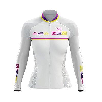 Camisa Feminina Ciclismo Manga Longa Vezzo Party