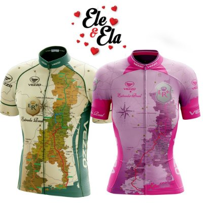 Ele & Ela - Camisa Vezzo Estrada Real Rosa/Verde