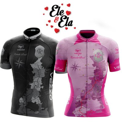 Ele & Ela - Camisa Vezzo Estrada Real Rosa/Preta