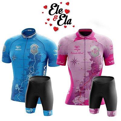 Ele & Ela - Conjunto Vezzo Estrada Real Rosa/Azul