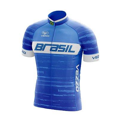Camisa Masculina Vezzo Brasil 2019 Azul - LANÇAMENTO