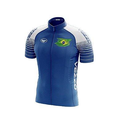 Camisa Masculina Vezzo Brasil Azul