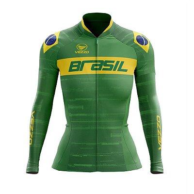 Camisa Feminina Vezzo Brasil 2019 Verde - LANÇAMENTO