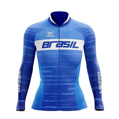 Camisa Feminina Vezzo Brasil 2019 Azul - LANÇAMENTO