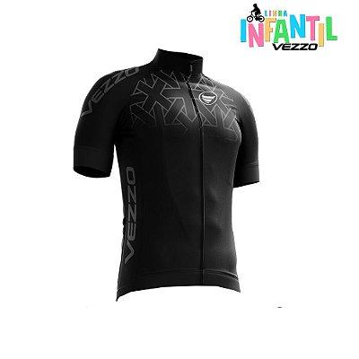 Camisa Ciclotour Infantil Menino Vezzo Concept Black