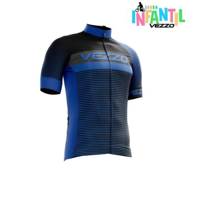 Camisa Infantil Menino Vezzo Storm Pro Cycle Blue