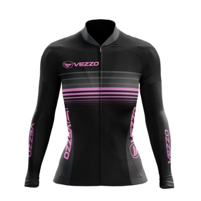 Casaco Feminino Ciclismo Vezzo Pressure Rosa